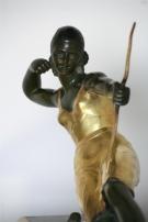 Sculpture Chasseresse à la biche - Années 1925, signée BRAULT