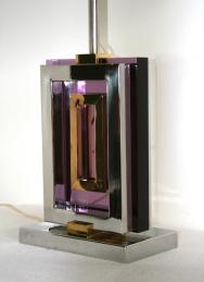 Lampe moderniste, signée de Roméo REGA, designer Italien, Années 1970