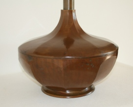 Lampe en bronze, à pans coupés - Epoque début 20ème