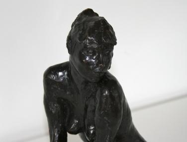 Sculpture en bronze patiné, signée Marie-Josèphe BOURRON (1931-2012)