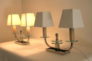 Paire de lampes bougeoirs, Années 1940 /1950
