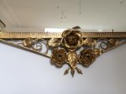 Miroir Art Déco en fer forgé et doré