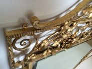 Miroir à double cadres en fer forgé et doré, Epoque Art Déco