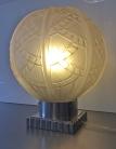 Lampe de table en verre, Epoque Art Déco