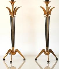 Lampes Noires et Bronze Doré - Années 1960/1970