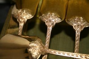 6 cuillères à entremets en vermeil - Maison ODIOT Paris - XIXème