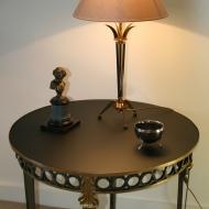 Paire de lampes noires et bronze doré - Italie 1960/70