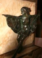 Lampe - Sculpture d'une Danseuse en bronze à patine - Style Art Déco, années 1930