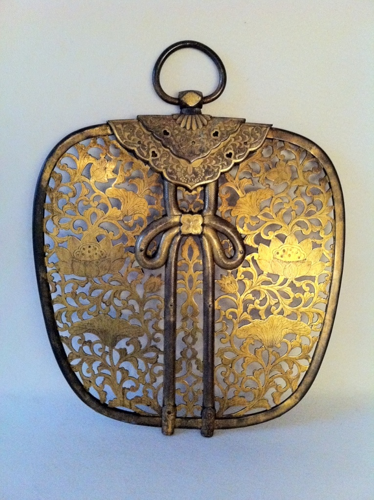 Panneau d'ornement en cuivre doré, KEMAN, Japon Période Meiji (1868-1912) 19ème