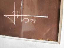 Gouache sur velin, NU Féminin, 1975, signée