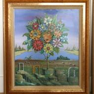 Georges SPIRO (1909-1994) Paire d'huiles sur toile, Paysages Surréalistes