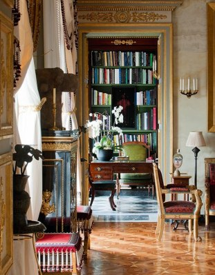 The living room of French architect and interior designer Jacques Garcia