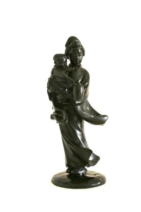 Statue en bronze, Femme Japonaise, Epoque Meiji, Fin 19ème