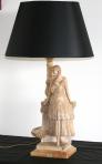 Sculpture en albâtre formant lampe, fin 19ème