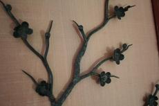 Suite de 4 panneaux décoratifs, les 4 saisons, ferronnerie sur soie, Chine 19ème