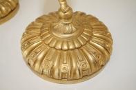 Paire de cornes d'abondance, montées sur bronze doré, Travail 19ème