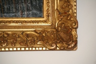 Huile sur toile, Les Maisons Rouges à Hyères, signée de R. PAREFEZ, datée Mai 1918