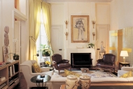 This Parisian living room — another project by Grange