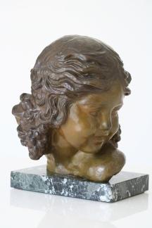 Sculpture en bronze à patine brun vert, signée Alexandre KELETY (1918-1940)