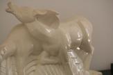 Couple d'Antilopes en Céramique Craquelée, Signée Lemanceau, Art Deco