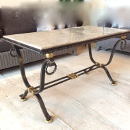 Table basse en fer forgé, Art Déco vers 1940, att à G. POILLERAT