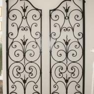 Paire de grilles décoratives d'Intérieur, fer forgé, 1940/1950