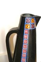 Grand pichet en céramique à fond noir granité - Alfaraz Madrid Espagne