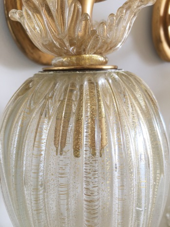 Paires d'Appliques en verre de Murano - 1950