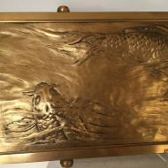 Plaque Décorative à décors de carpes koï - début 20ème