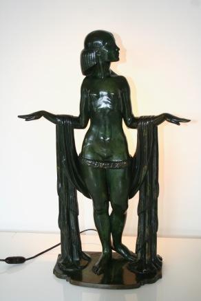 Statue de Femme en Bronze, signée de Marcel RAU (Belgique)
