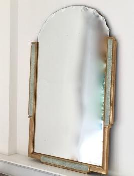 Miroir d'époque ART DECO à encadrement en bois doré