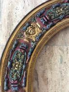 Très grand cadre en bois doré, polychromé - Renaissance Italie 16ème, (219 cm)