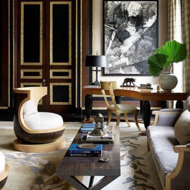 On a Grand Scale: A Home in India by Jean-Louis Deniot For French designer Jean-Louis Deniot, the assignment to create an estate in New Delhi from the ground up was the commission of his dreams. All it took to transform it into reality were ingenuity, patience, and a cadre of Indian craftsmen