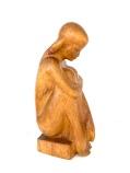 Grande Sculpture Jeune Femme 64 cm, bois massif, de Michel Bonnand